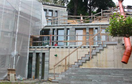 Neu- und Umbau - Natursteinarbeiten - Außenebereich - Villa Blankensee