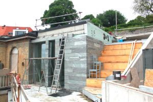 Neu- und Umbau - Natursteinarbeiten - Außenbereich - Villa Blankensee
