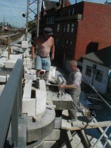 Restaurierung der Eisenbahnunterführung Schiffgraben Hannover